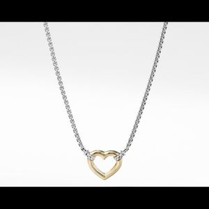 David Yurman Heart Necklace with 18K Gold
